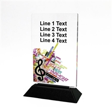 Acrylic Music Award | Full Color Music Acrylic