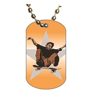 Skateboarding Dog tag