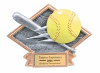 Softball Sculpted Resin Trophy