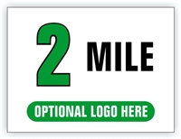 Race Distance Marker Sign 2 Mile