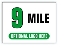 Race Distance Marker Sign 9 Mile