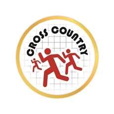 Cross Country Pin