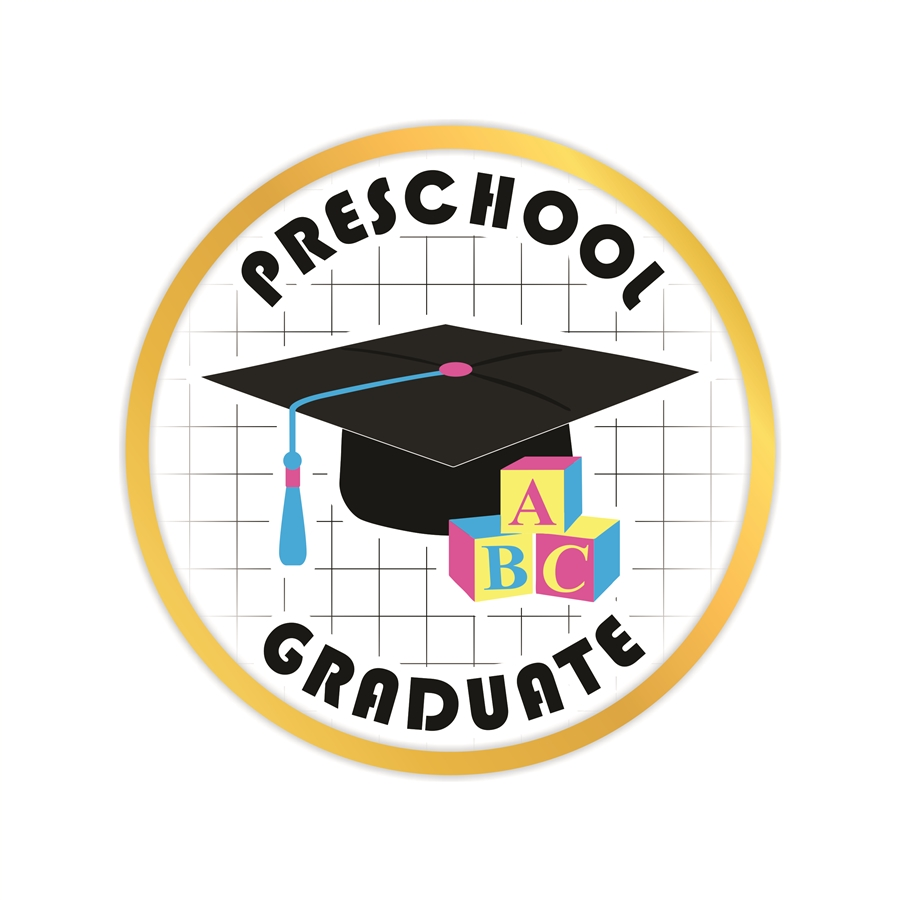 Preschool Graduate Lapel Pin Award Preschool Graduate