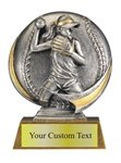 Female Softball Sculpted Resin Trophy
