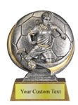 Female Soccer Sculpted Resin Trophy