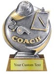 Coach Sculpted Resin Trophy