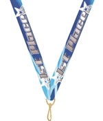 "First Place Snap Clip ""V"" Neck Medal Ribbon"