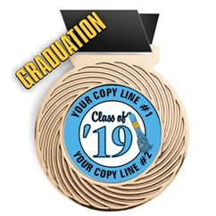 Graduation Full Color Insert Medal