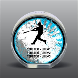 Full Color Printed Baseball Acrylic Award