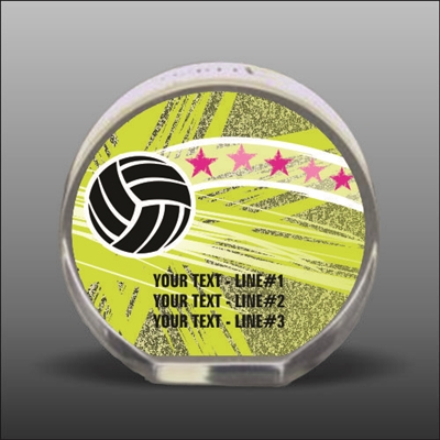 Full Color Printed Volleyball Acrylic Award