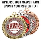 Custom Team Name/Mascot Award Medal