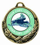 Snowmobile Medal 2-3/4""