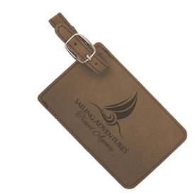 Laserable Leather Luggage bag tag