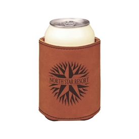 Leather Can Beverage Holder
