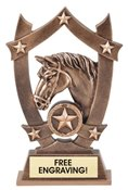 Horse Sculpted Resin Trophy