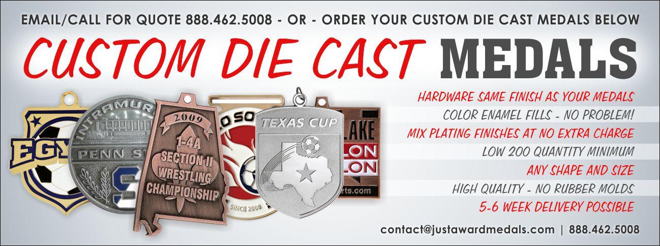 Custom Diecast Medals | Die Cast Medals | Just Award Medals
