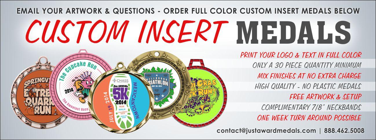 Custom Printed Award Medals | Customized Insert Medals