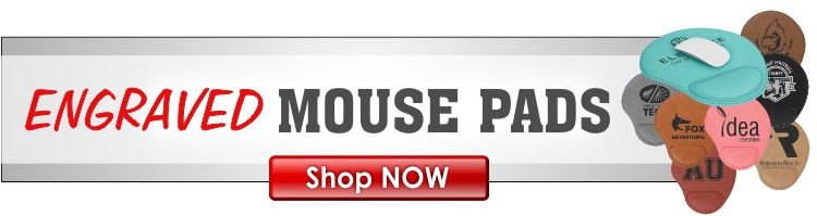Laserable Leather Mouse Pads