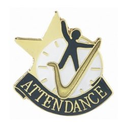Attendance Lapel Pin with presentation box