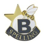 Spelling Lapel Pin with presentation box