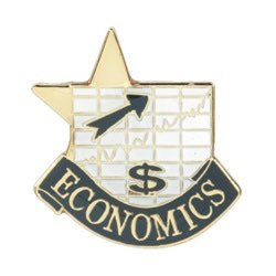 Economics Lapel Pin with presentation box