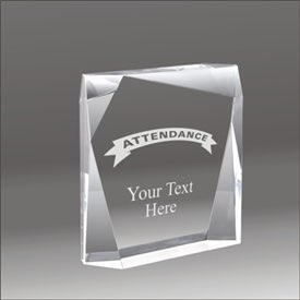 Jewel Bevel attendance acrylic award