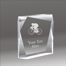 Jewel Bevel biking acrylic award