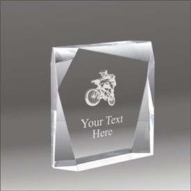 Jewel Bevel bmx acrylic award