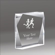 Jewel Bevel cross country running acrylic award