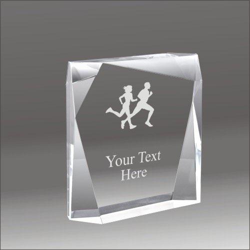 running award  Bevel cross country running acrylic award