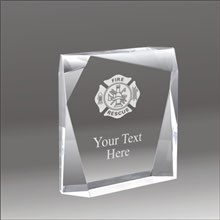 Jewel Bevel fire rescue acrylic award