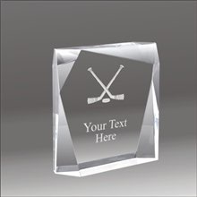 Jewel Bevel hockey acrylic award