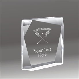 Jewel Bevel lacrosse acrylic award