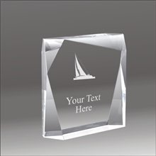 Jewel Bevel sailing acrylic award