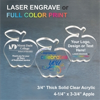 Acrylic Apple Award | Acrylic Apple Paperweight