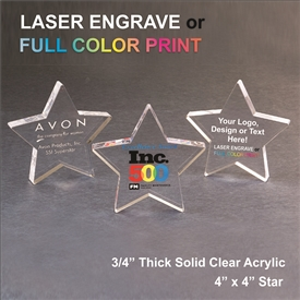 Acrylic Star Award | Acrylic Apple Paperweight