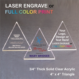 Acrylic Triangle Award | Acrylic Apple Paperweight