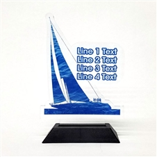 Acrylic Sailing Award | Full Color Sailing Acrylic