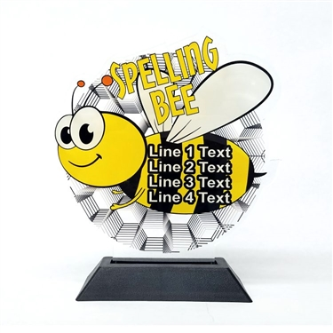 Acrylic Spelling Bee Award | Full Color Shooting Acrylic