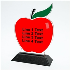 Acrylic Apple Award | Full Color Apple Acrylic