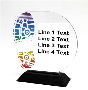 Acrylic Running Award | Full Color Running Acrylic