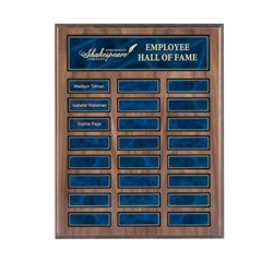 24 Plate Walnut Perpetual Plaque
