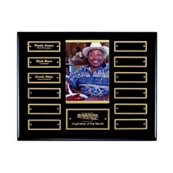 Ebony finish perpetual photo plaque