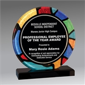 Round Stained Glass acrylic award