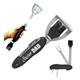 "Black Laserable ""5 in 1"" BBQ Tool Set 