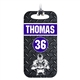 Football Team Bag Tag