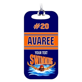 Swimming Team Bag Tag