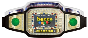 Champion Award Belt for Bocce