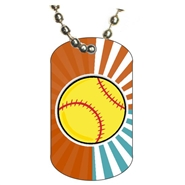 Softball Dog tag
