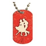 Dance Dog tag